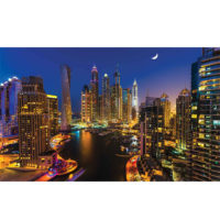 Fototapeta Dubai City Skyline by night 368 x 254