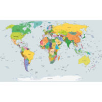 Fototapeta World Map 368 x 254