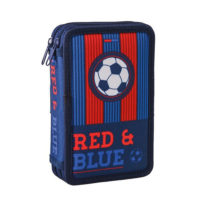 Sazio Double Decker Puna Pernica sa 2 zipa Red&Blue Football