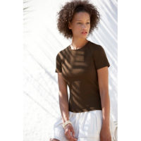 Fruit Of The Loom Ženska Majica Lady-Fit Crew Neck Tee Chocolate 610560CQ