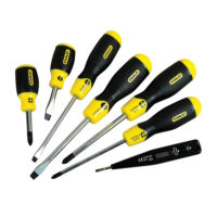 STANLEY odvijači cushion grip /set 6 kom + tester 220V
