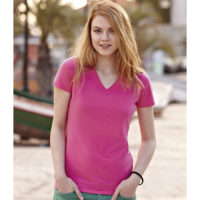 Fruit Of The Loom Ženska Majica Fit V-Neck Tee Light Pink 61054052
