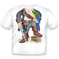 Just Add A Kid Majica Pirate Parrot Boy 147