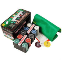 Texas Hold em Poker set u limenoj kutiji