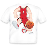 Just Add A Kid Majica Basketball Red/White 791