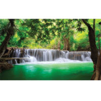 Fototapeta Waterfall Lake Forest 368 x 254
