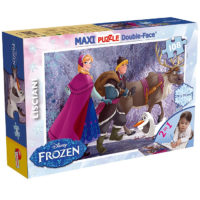 Lisciani Maxi Puzzle 2u1 - Složi i Oboji - Frozen On The Walk 46898