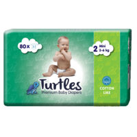 Turtles Pelene Mini 2, 80 komada, 3-6kg