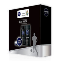 Nivea Men poklon set DEEP FRESH BOX - šampon 250ml, gel za tuširanje 250ml i krema 75ml