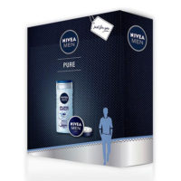 Nivea Men Set PURE BOX - gel za tuširanje 250ml i krema 75ml