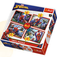 Trefl Puzzle In Spider-Man's web 4 in 1