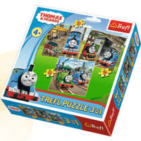 Trefl Puzzle Thomas goes into action 3 in 1