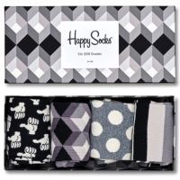 Happy Socks Black And White Gift Box čarape