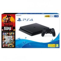 PlayStation PS4 1TB + GTA 5 Premium + Red Dead Redemption 2
